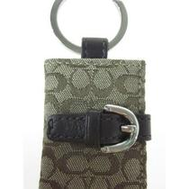 New Auth Coach Monogrammed Canvas Photo Book Key Chain Photo