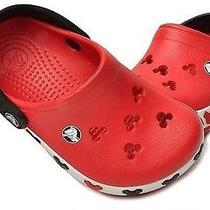 New Auth Croc Mickey Crocband Summer Shoes Slipper usac6.7 Kids Children Red  Photo