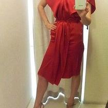 New Auth Lanvin Rich Red Dress Fr40 Photo