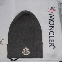 New auth.moncler Beanie Skull Hat 100% Wool in Dust Bag Made in Italy Photo