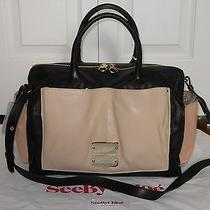 New Auth See by Chloe Nellie Leather Colorblock Satchel Tote Shoulder Bag Purse Photo