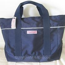 New Auth Vineyard Vines Noreaster Tote Travel Bag Blue Blazer Photo