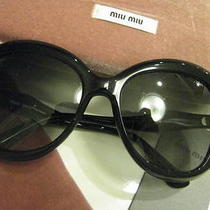 New Authentic 2013 Miu Miu by Prada  Smu 05n1ab-3m1black Sunglasses Photo