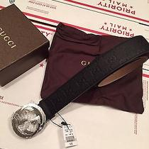 New Authentic Black Gucci Belt Guccissima 100cm Waist 34/36 Photo