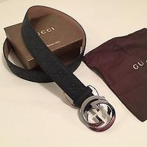 New Authentic Black Gucci Belt Guccissima 105cm  Waist 36-38 Photo