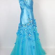New Authentic Blush Prom by Alexia 9383 Blue Wedding Prom Evening Gown 14 Photo