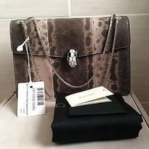 New Authentic Bvlgari Serpenti Light Water Snake Shoulder Bag   Photo