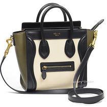 New Authentic Celine Nano Luggage 3 Tri-Color Tone Leather Handbag Shoulder Bag Photo