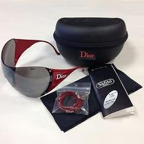 New Authentic Christian Dior Red Sunglasses Ski 1 Polarized Bike Sport Shield Photo