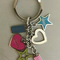 New Authentic Coach Bag Charm Key Ring Hearts Tags & Stars Photo