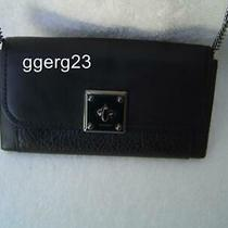New Authentic Coach Black Mixed Leather Drifter Wallet/handbag 54089 W/defects Photo