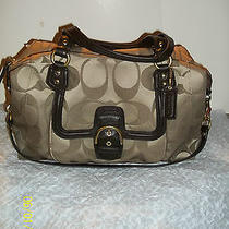 New Authentic Coach-Campbell Signature Satchel F25292 Photo