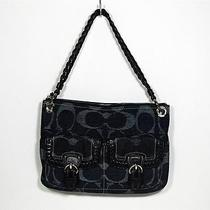 new&authentic  Coach Indigo Satchel Photo