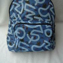 New Authentic Coach Keith Haring Blue Hula Print Nylon Packable Backpack 67409 Photo