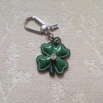 New Authentic Coach Leather Shamrock Key Ring/key Fob 93152 Photo