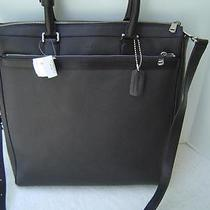 New Authentic Coach Mahogany Saffiano Leather City Business Tote 71331 Mens Photo