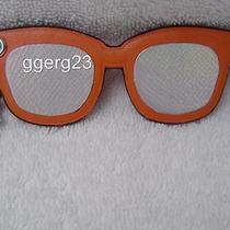 New Authentic Coach Orange Leatherhologram Sunglasses Key Chain/bag Charm54920 Photo