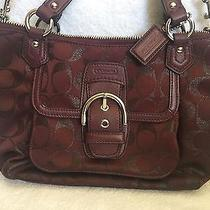 New Authentic Coach Small Crossbody Bag Burgundy Bordeaux Campbell Signature Photo