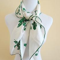 New Authentic dolce&gabbana White Green Roses Italy Silk Scarf Photo