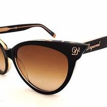 New Authentic Dsquared2 Dq0097 05b Cat Eye Black/brown Women's Sunglasses Photo