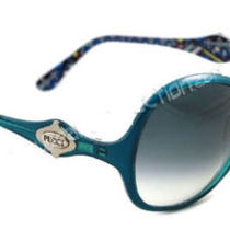 New Authentic  Emilio Pucci  Ep 605s 440 605 S Aqua Blue Sunglasses in Stock Photo
