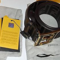 New Authentic Fendi Cintura College Zucca Brown Belt 90cm Photo