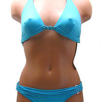 New Authentic Gottex Size 8 Aqua 2 Pc Set Bikini Swimsuit Nwt Msrp 128.00 Photo