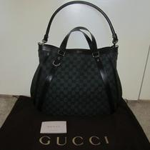 New Authentic Gucci Gg Abbey Bag Dark Green Canvas With Detachable Strap Photo