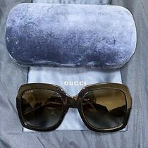 New Authentic Gucci Gg0036s Womens Sunglasses Made in Italy (Blue Sunglass Case Photo