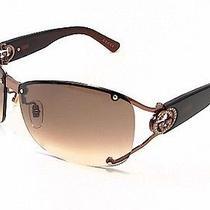 New Authentic Gucci Gg2820/f/s Vtc5e Shiny Brown Semi-Rimless Ladies Sunglasses Photo