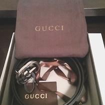 New Authentic Gucci Leather Belt 100cm Photo