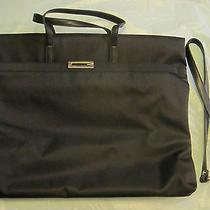New Authentic Guess Black Satin Handbag Tote Removable Strap Unique Rare Gift Photo