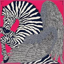 New Authentic Hermes 140cm 55x55 Gm Shawl Scarf Zebra Pegasus Rose Cashmere Pink Photo
