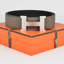 New Authentic Hermes 42mm Reversible Leather Belt Kit Constance 100cm H Buckle  Photo