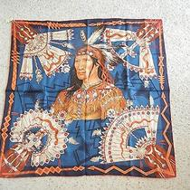New Authentic Hermes Silk Scarf Cosmogonie Apache Blue Red 90cm Photo