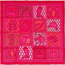 New Authentic Hermes Silk Scarf Le Boubou H 70cm Fuchsia Pink Photo