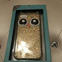 New Authentic Kate Spade Gold Glitter Owl Silicone Iphone 8/7/6s/6 Case 45 Photo
