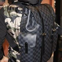 New Authentic Louis Vuitton Christopher Pm Backpack Black Graphite Rare Photo
