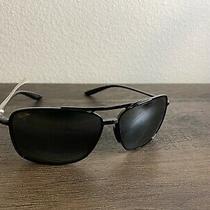 New Authentic Maui Jim Kaupo Gap Sunglasses  Black Frame  437-02  Polarized Grey Photo