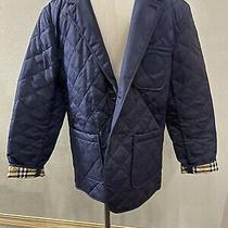 New Authentic Mens Burberry Clifton Quilted Blazer/jacket Navy Sz Us42 Eu52 790 Photo