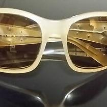 New Authentic Miu Miu Women Ladies Yellow Wrap Around Silver Uv Sunglasses 135 Photo
