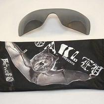 New Authentic Oakley Batwolf Black Iridium Lenses and Batwolf Microfiber Bag Photo