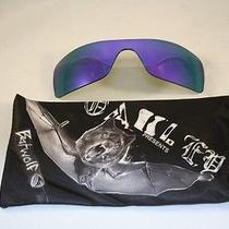 New Authentic Oakley Batwolf Violet Iridium Lenses and Batwolf Microfiber Bag Photo