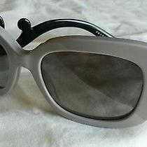 New Authentic Prada Baroque Sunglasses Spr 270 Qe0-0a7 Gray/black Made in Italy Photo