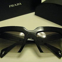 New Authentic Prada Spr 34p 1ab-0a7 Sunglasses Black Gray Gradient Uni Photo