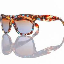 New Authentic Prada Sunglasses Spr 07ps Nag/0a4 Blue Red Fantasy/brown Gradient Photo