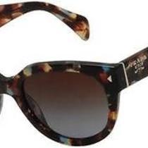 New Authentic Prada Sunglasses Spr 17os Nag/0a4 Blue Red Fantasy Colour Photo