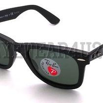 New Authentic Ray-Ban Wayfarer Rb 2140 901/58 Black Polarized Sunglasses 50mm  Photo