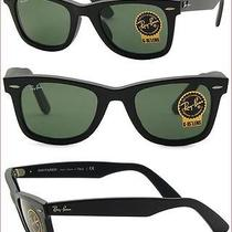 New Authentic Ray Ban Wayfarer Sunglasses Rb2140 901 Black Gloss 50mm 2140 Photo