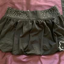 New  Authentic Sanrio Hello Kitty Pynkiss Rhinestone Glitter Black Skirt Sz 10 Photo